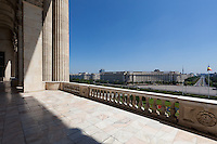 Balcony. The Palace of the Parliament (Also known as Ceausescu&rsquo;s Palace or House of The People) in Bucharest, Romania. Built 1983-1989. Architect: Anca Petrescu