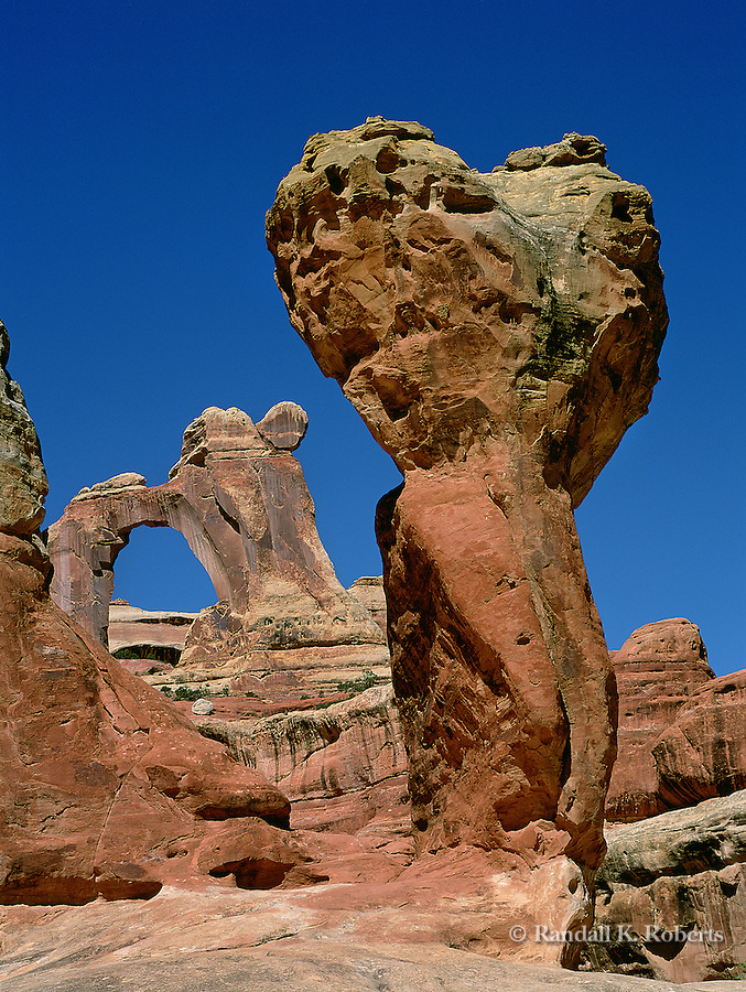 Angel Arch and Molar Rock, Needles District, Canyonlands National Park, Utah