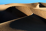 Desert sand dunes at Lac Naila, Morocco.