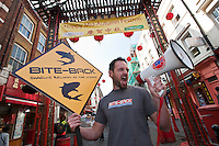 Anti shark finning protest organised by Bite Back in Chinatown, London, UK, 2010.
