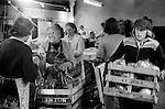 Casual seasonal factory work vegetable packing. Wisbech Cambridgeshire UK.