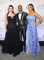 NEW YORK, NY - OCTOBER 24: Toby Boshak, Leslie Odom Jr. and Nicolette Robinson attend the 2016 Princess Grace Awards Gala at Cipriani Broadway on October 24, 2016 in New York City. Photo by John Palmer/MediaPunch