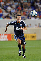 Shea Salinas (22) of the Vancouver Whitecaps. The New York Red Bulls and the Vancouver Whitecaps played to a 1-1 tie during a Major League Soccer (MLS) match at Red Bull Arena in Harrison, NJ, on September 10, 2011.
