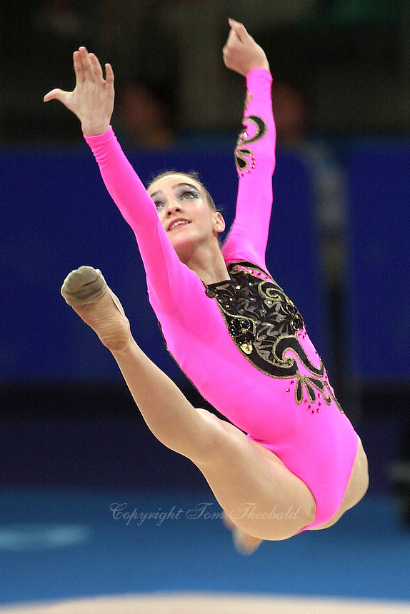 Sep 29, 2000; SYDNEY, AUSTRALIA:<br /> Evmorphia Dona of Greece performs with ball during rhythmic gymnastics qualifying at 2000 Summer Olympics.  <br /> Photo by Tom Theobald/ZUMA Press.