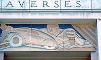 "San Diego: Old Main Post Office,  ""WPA Moderne"" Symbols. (Photo 1982)"