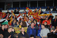 Cardiff City Stadium, Friday 11th Oct 2013. The Macedonia supporters show their colours at the Wales v Macedonia FIFA World Cup 2014 Qualifier match at Cardiff City Stadium, Cardiff, Friday 11th Oct 2014. All images are the copyright of Jeff Thomas Photography-07837 386244-www.jaypics.photoshelter.com