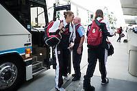 SAN JOSE, CA - MARCH 28, 2013 - Stanford Women's Basketball departures from San Jose International Airport.
