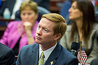 TALLAHASSEE, FLA. 11/18/14-ORGSESS111814CH-Agriculture Commissioner Adam Putnam listens during Organizational Session of the legislature, Nov. 18, 2014 at the Capitol in Tallahassee.<br /> <br /> COLIN HACKLEY PHOTO