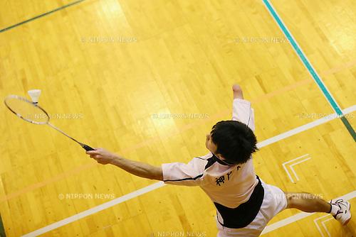 Gen Shogaki, <br /> FEBRUARY 6, 2016 - Badminton : <br /> The 1st Japan National Badminton Championships <br /> Men's singles SU5+ <br /> at Kurume city western gymnasium, Fukuoka, Japan. <br /> (Photo by Yohei Osada/AFLO SPORT)