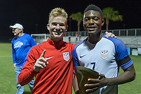 LAKEWOOD RANCH, Florida – Wednesday, December 04, 2016: The U.S. Men's National team U-17s vs Brazil. 2016 Nike International Friendlies at Premier Sports Campus.