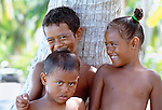 Tahitian children, Bora Bora, French Polynesia