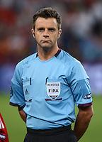 FUSSBALL  EUROPAMEISTERSCHAFT 2012   VIERTELFINALE Spanien - Frankreich      23.06.2012 Schiedsrichter Nicola Rizzoli