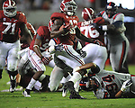 Ole Miss defensive lineman Issac Gross (94) tackles Alabama running back Eddie Lacy (42) at Bryant-Denny Stadium in Tuscaloosa, Ala. on Saturday, September 29, 2012. Alabama won 33-14. Ole Miss falls to 3-2.