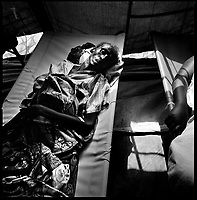 Luanda, Angola, May 19, 2006.Conceiçao Paolo, 54, is a patient at the Boa Vista MSF Belgium operated cholera field clinic. Between February and June 2006, more than 30000 people were infected with cholera in Angola's worse outbreak ever; more than 1300 died.