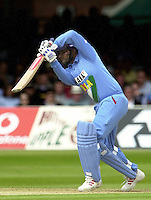 .29/06/2002.Sport - Cricket - .NatWest triangler Series England - Sri Lanka - India.England vs india 50 overs.  Lord's ground.India batting - Sourav Ganguly ..