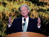 Governor Lincoln Chafee (Independent of Rhode Island) makes remarks at the 2012 Democratic National Convention in Charlotte, North Carolina on Tuesday, September 4, 2012.  .Credit: Ron Sachs / CNP.(RESTRICTION: NO New York or New Jersey Newspapers or newspapers within a 75 mile radius of New York City)