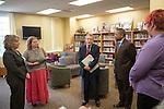 Ohio Attorney General Mike DeWine (Center) disucusses the achievements of Ohio University's sexual assault survivor advocacy program at Ohio University's Women's Center. Photo by Ben Siegel/ Ohio University.