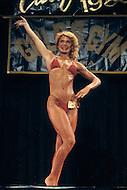 Los Angeles, 1980. Shelley Gruwell at  California Women's Bodybuilding Championship.