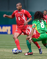 05 July 2009:  Gabriel Gomez of Panama in action during the game against Guadeloupe at Oakland-Alameda County Coliseum in Oakland, California.   Guadeloupe defeated Panama, 2-0.