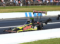 Jun 12, 2016; Englishtown, NJ, USA; NHRA top fuel driver J.R. Todd during the Summernationals at Old Bridge Township Raceway Park. Mandatory Credit: Mark J. Rebilas-USA TODAY Sports