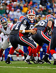 23 December 2007: Buffalo Bills quarterback Trent Edwards looks to make a handoff against the New York Giants at Ralph Wilson Stadium in Orchard Park, NY. The Giants defeated the Bills 38-21. ..Mandatory Photo Credit: Ed Wolfstein Photo
