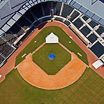Baseball Grounds of Jacksonville Florida helicopter aerial ortho