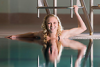 NWA Democrat-Gazette/JASON IVESTER<br /> Bentonville's Taylor Pike, swimmer of the year; photographed on Tuesday, March 7, 2017, at the Bentonville Community Center