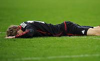 FUSSBALL   CHAMPIONS LEAGUE   SAISON 2011/2012   ACHTELFINALE  Bayer 04 Leverkusen - FC Barcelona              14.02.2012 Stefan Kiessling (Bayer 04 Leverkusen) ist nach einer vergeben Torchance enttaeuscht