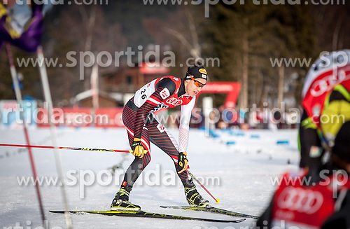 18.01.2014, Casino Arena, Seefeld, AUT, FIS Weltcup Nordische Kombination, Seefeld Triple, Langlauf, im Bild Mario Seidl (AUT) // Mario Seidl (AUT) during Cross Country at FIS Nordic Combined World Cup Triple at the Casino Arena in Seefeld, Austria on 2014/01/18. EXPA Pictures © 2014, PhotoCredit: EXPA/ JFK