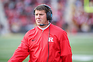 College Park, MD - November 26, 2016: Rutgers Scarlet Knights head coach Chris Ash during game between Rutgers and Maryland at  Capital One Field at Maryland Stadium in College Park, MD.  (Photo by Elliott Brown/Media Images International)