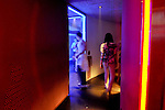 Korea photographsPeople loiter in a hallway in a club in Apgujeong, a ritzy area of Seoul, South Korea.