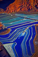 Colorful Potash Ponds, Near Moab, Utah Evaporation ponds near Colorado River