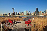 Gantry Plaza State Park, Long Island City, Hunters Point, Queens, NYC, NY, Chairs