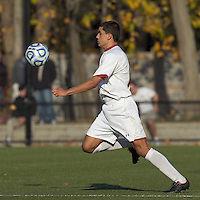 Boston College forward/midfielder Diego Medina-Mendez (15) traps the ball at midfield.  Rutgers University defeated Boston College in penalty kicks after two overtime periods in NCAA Division I tournament action, at Newton Campus Field, November 20, 2011.