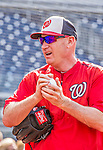 22 May 2015: Washington Nationals Manager Matt Williams rubs down a ball prior to a game against the Philadelphia Phillies at Nationals Park in Washington, DC. The Nationals defeated the Phillies 2-1 in the first game of their 3-game weekend series. Mandatory Credit: Ed Wolfstein Photo *** RAW (NEF) Image File Available ***