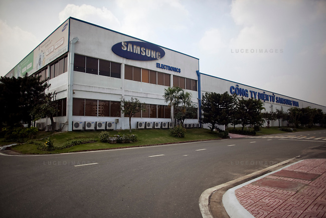 The Samsung Vina Electronics Co. factory in district Thu Duc in Ho Chi Minh City, Vietnam. Photo taken on Friday, December 4, 2009. Kevin German / Luceo Images