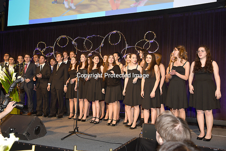The singing group attends the Columbia Grammar & Prep School 2017 Benefit on March 8, 2017 at Cipriani Wall Street in New York, New York.