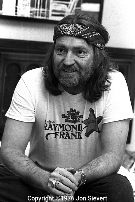 Willie Nelson, March 1976, San Francisco, 20-25-12A. American country singer-songwriter, author, poet, actor and activist. He reached his greatest fame during the outlaw country movement of the 1970s, and remains iconic, especially in American popular culture.<br /> <br /> Now in his 70s, Nelson continues to tour and has performed in concerts and fundraisers with other major musicians, including Bob Dylan, Neil Young, and Dave Matthews. He also continues to record albums prolifically in new genres that embrace reggae, blues, jazz, folk, and popular music.