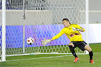 New York Red Bulls goalkeeper Santiago Castano (1) dives for a shot. The USMNT U-17 defeated New York Red Bulls U-18 4-1 during a friendly at Red Bull Arena in Harrison, NJ, on October 09, 2010.