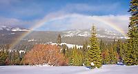 Rainbow in the Snow