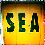 SEA writing on a door