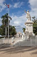 Cuba, Cienfuegos.  Statue of Jose Marti in Parque Marti, Town Park.