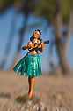 "Hula Doll ""Sweet Leilani"" on the beach at Anaeho'omalu Bay, Waikoloa Beach Resort, Kohala Coast, Island of Hawaii..#0604722"