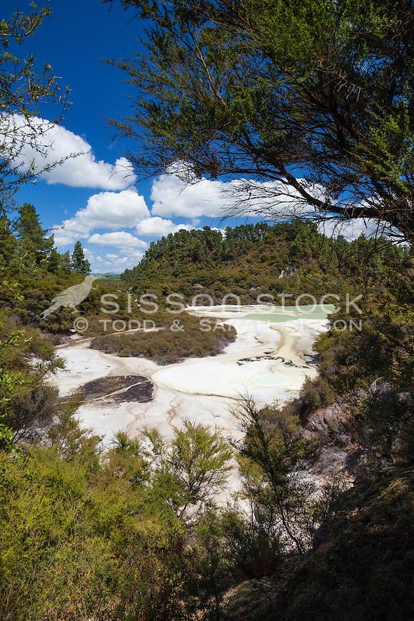Waiotapu Thermal Wonderland, Rotorua, New Zealand - stock photo, canvas, fine art print