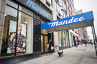 A Mandee store in the Upper West Side neighborhood of New York is seen on Saturday, January 12, 2013. Big M. Inc., the owner of Mandee, Annie Sez and Afaze stores has filed for bankruptcy citing problems arising from Superstorm Sandy, The company, which employs 1200 in 129 sotres,  has been restructuring since 2011 and has already closed around 27 stores.  (© Richard B. Levine)