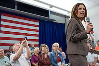 Republican presidential hopeful Michele Bachmann campaigns on Saturday, July 23, 2011 in Marshalltown, IA.