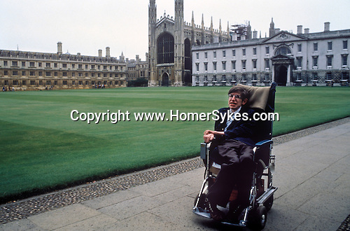 stephen hawking cambridge 1980s england portrait photo image photograph homer sykes. Black Bedroom Furniture Sets. Home Design Ideas