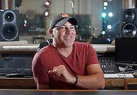 NWA Democrat-Gazette/DAVID GOTTSCHALK - Kenny Lamb in the control room of Crisp Studios in Fayetteville Tuesday, July 21, 2015.