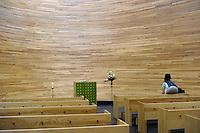 Cappella di Kamppi in piazza Narinkkatori chiamata anche Cappella del Silenzio.<br /> Kamppi Chapel in Narinkkatori Square, also called Chapel of Silence.