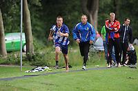 FIERLJEPPEN: GRIJPSKERK: Fierljepaccomodatie 'De Enk', 16-08-2014, ROC Friese Poort competitie 2014, Jan Teade Nauta, ©foto Martin de Jong